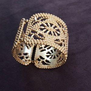 Gold elastic cuff